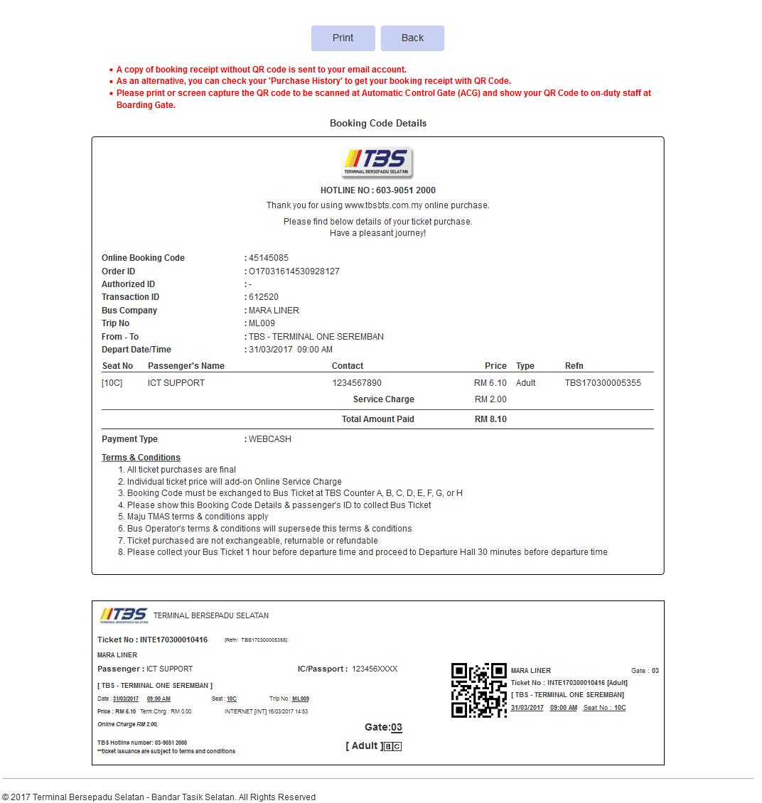 Tbs Bts Malaysia Et Ticket Sunway Lagoon Dewasa Kuala Lumpur Tetingkap Pembayaran Melalui Akaun Bank Akan Tertutup Secara Automatik Manakala Portal E Tiket Menunjukkan Kod Tempahan Atas Talian